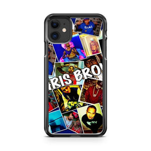 chris brown collage iphone 5/6/7/8/X/XS/XR/11 pro case cover