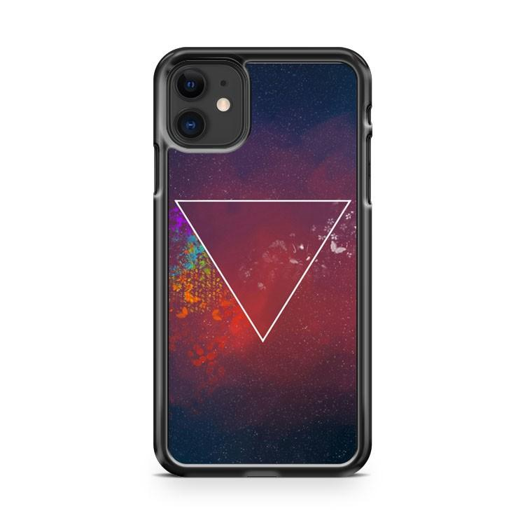 Galaxy Print Inverted Triangle iphone 5/6/7/8/X/XS/XR/11 pro case cover