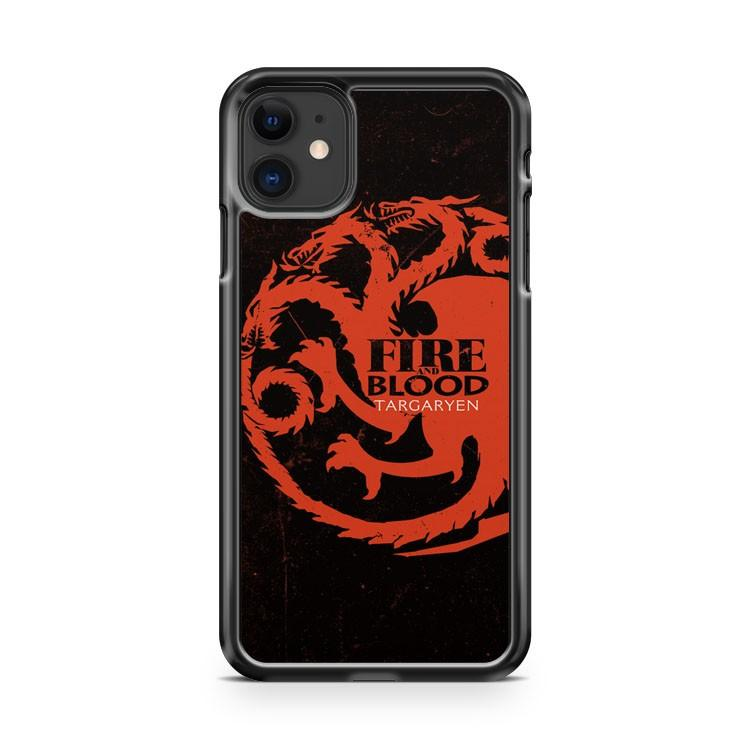 Game of Thrones House of Targaryen Fire And Blood iphone 5/6/7/8/X/XS/XR/11 pro case cover