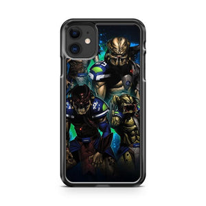 predator seahawks iphone 5/6/7/8/X/XS/XR/11 pro case cover