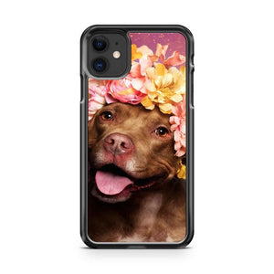 Puppy Flower Power Topaz iphone 5/6/7/8/X/XS/XR/11 pro case cover