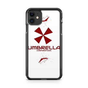 white umbrella corporation iphone 5/6/7/8/X/XS/XR/11 pro case cover