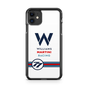 Williams Martini Racing 77 iphone 5/6/7/8/X/XS/XR/11 pro case cover