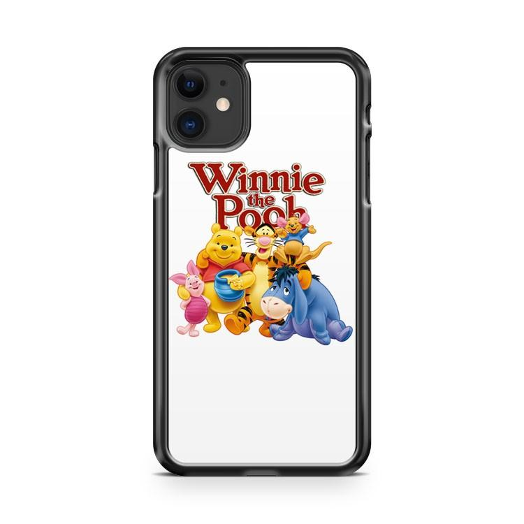 Winnie the Pooh Characters iphone 5/6/7/8/X/XS/XR/11 pro case cover