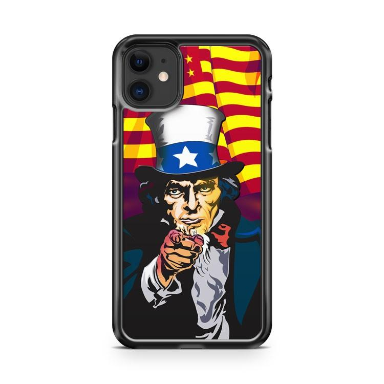 WWII Uncle Sam Pointing iphone 5/6/7/8/X/XS/XR/11 pro case cover