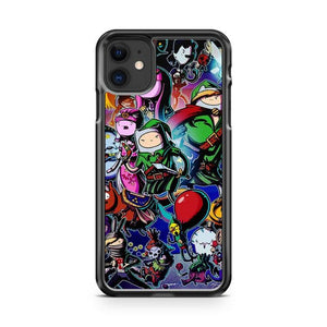 ZELDA ADVENTURE TIME iphone 5/6/7/8/X/XS/XR/11 pro case cover