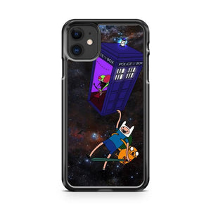 Zim has stolen the Tardis Adventure time iphone 5/6/7/8/X/XS/XR/11 pro case cover