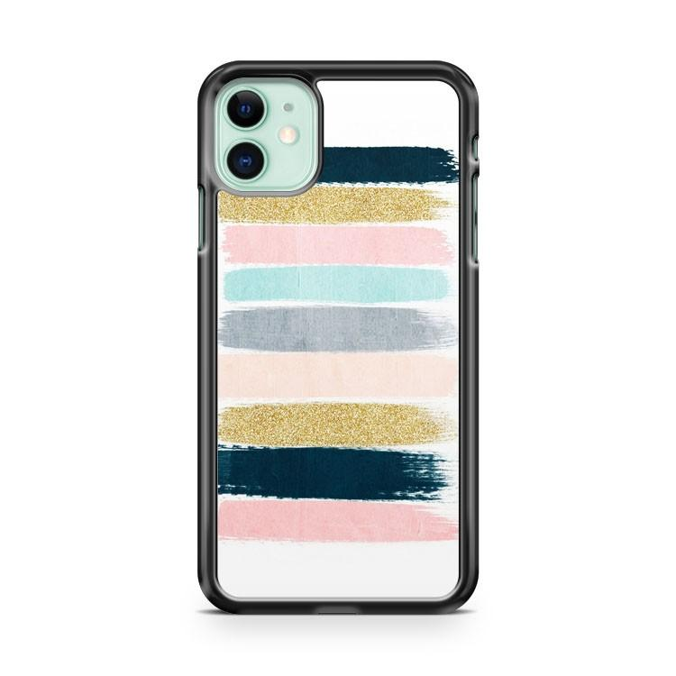 Brushstroke Glitter Trendy Girly iphone 5/6/7/8/X/XS/XR/11 pro case cover