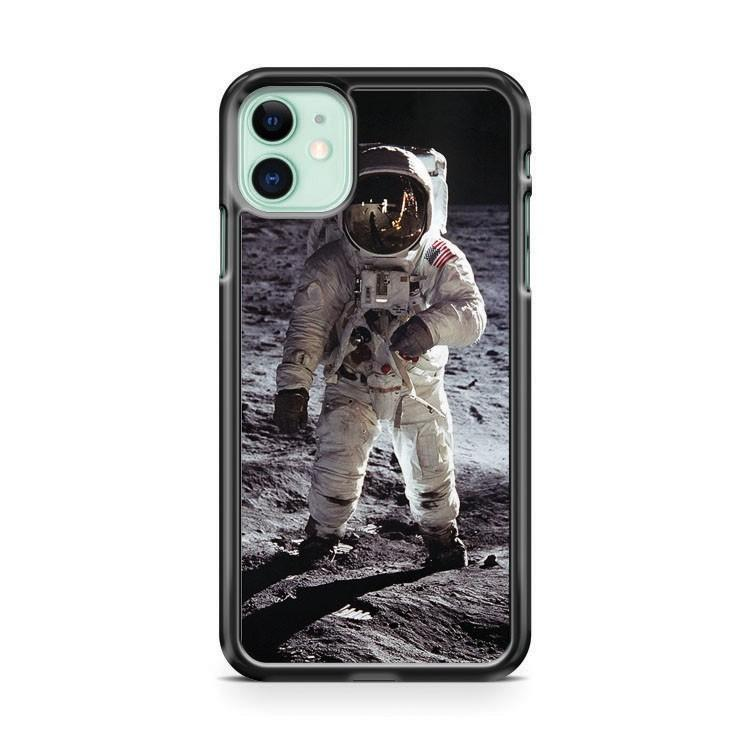 Buzz Aldrin On The Moon NASA iphone 5/6/7/8/X/XS/XR/11 pro case cover - Goldufo Case