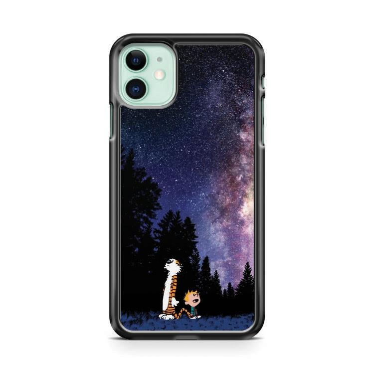 Calvin And Hobbes Staring Galaxy 3 iphone 5/6/7/8/X/XS/XR/11 pro case cover