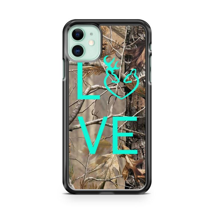 Camo Browning Buck Love iphone 5/6/7/8/X/XS/XR/11 pro case cover