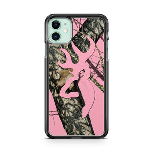 Camo Hot Pink Browning iphone 5/6/7/8/X/XS/XR/11 pro case cover