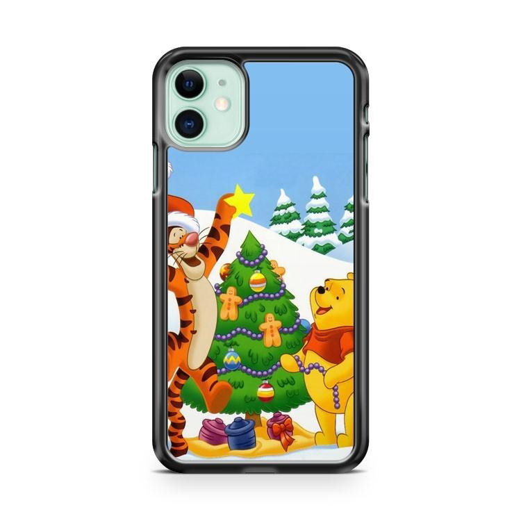 Christmas Winnie The Pooh iphone 5/6/7/8/X/XS/XR/11 pro case cover