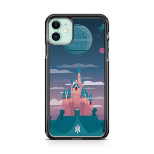 Cinderella Castle Death Star Wars iphone 5/6/7/8/X/XS/XR/11 pro case cover