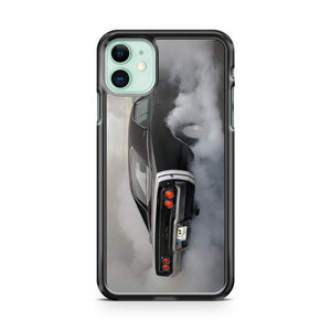 Dodge Challenger Silhouette Hash Marks RT SRT Hellcat Demon Muscle Car iphone 5/6/7/8/X/XS/XR/11 pro case cover