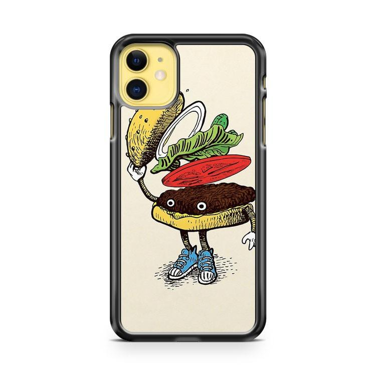 Burger Greeting iphone 5/6/7/8/X/XS/XR/11 pro case cover - Goldufo Case