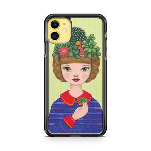 Cacti girl with a Cacti garden iphone 5/6/7/8/X/XS/XR/11 pro case cover