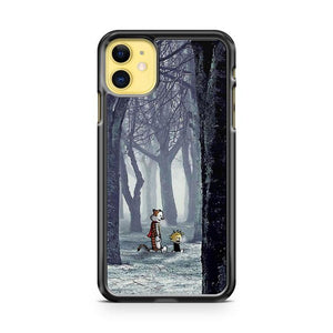Calvin and Hobbes Forest Winter iphone 5/6/7/8/X/XS/XR/11 pro case cover