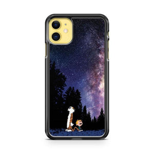 Calvin And Hobbes Staring Galaxy iphone 5/6/7/8/X/XS/XR/11 pro case cover
