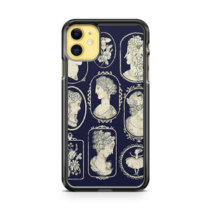 Cameos Blue iphone 5/6/7/8/X/XS/XR/11 pro case cover