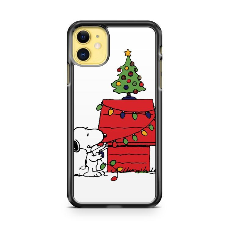 Christmas Snoopy iphone 5/6/7/8/X/XS/XR/11 pro case cover