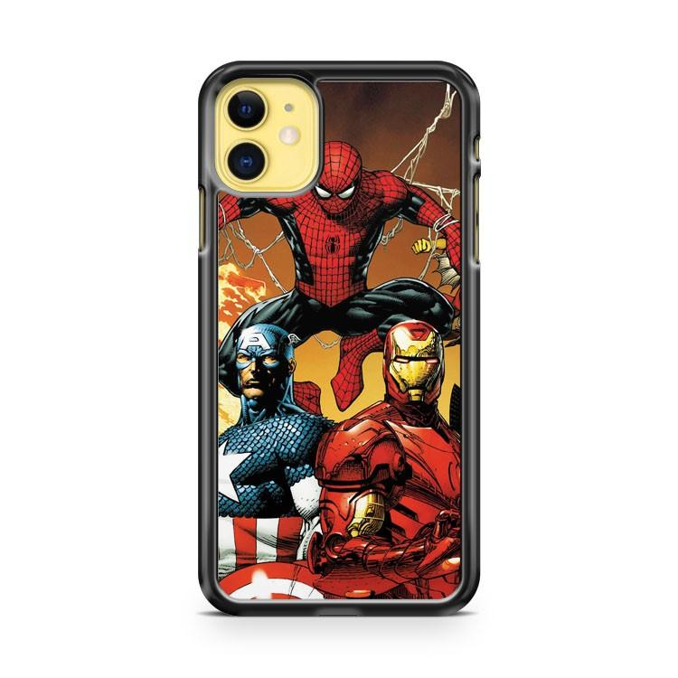 Civil War Spiderman 2 iphone 5/6/7/8/X/XS/XR/11 pro case cover