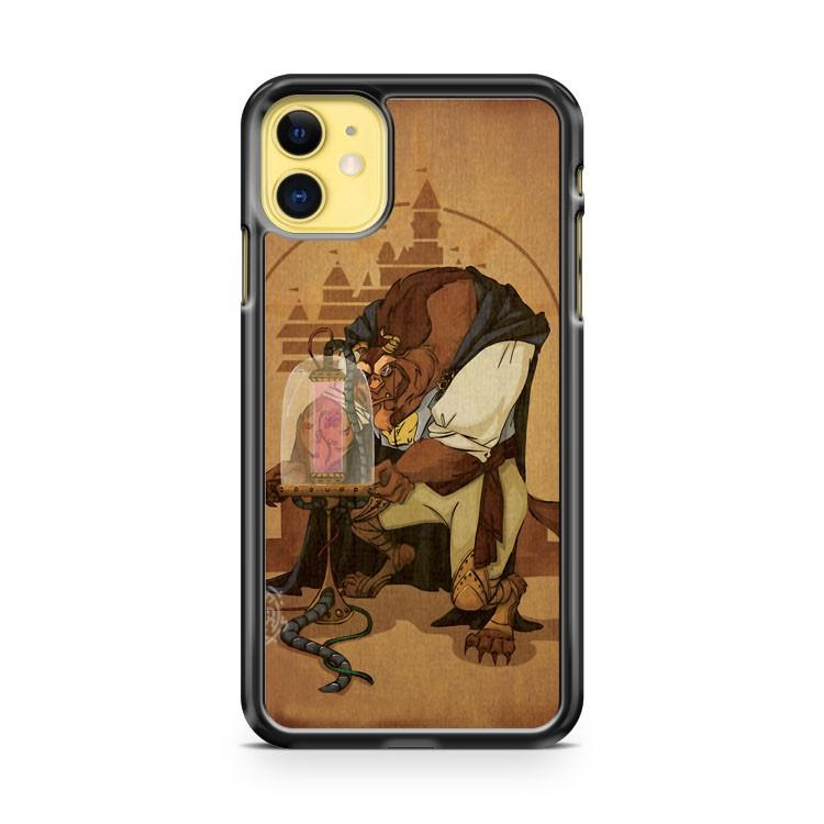 Disney Stained glass art Cinderella iphone 5/6/7/8/X/XS/XR/11 pro case cover