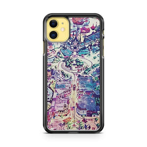 Galaxy Vintage Disneyland Map iphone 5/6/7/8/X/XS/XR/11 pro case cover