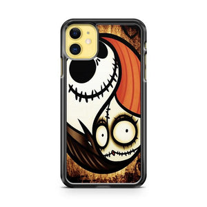 Jack The Pumpkin King And Sally iphone 5/6/7/8/X/XS/XR/11 pro case cover
