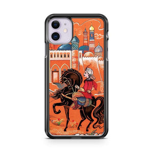 Prince on horse iphone 5/6/7/8/X/XS/XR/11 pro case cover