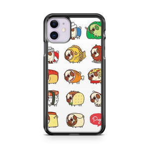 Pug Food iphone 5/6/7/8/X/XS/XR/11 pro case cover