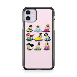 Pug Princesses iphone 5/6/7/8/X/XS/XR/11 pro case cover