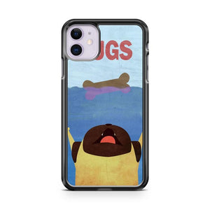 PUGS Fake Movie Poster iphone 5/6/7/8/X/XS/XR/11 pro case cover