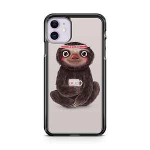 SLOTH & SOFT DRINK iphone 5/6/7/8/X/XS/XR/11 pro case cover