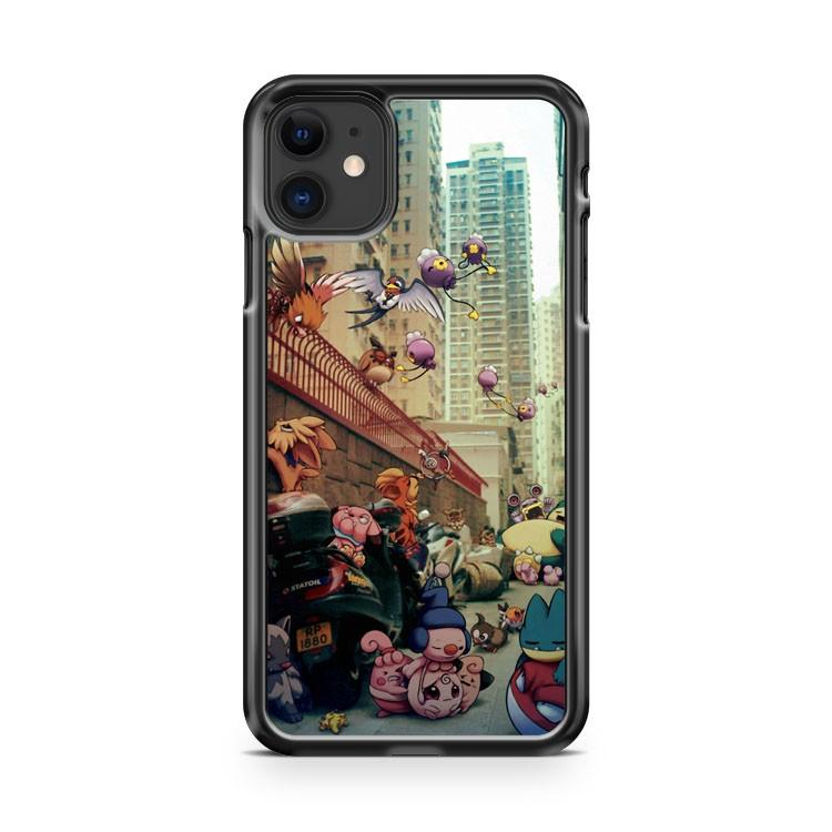 Wild Pokemon living in the City iphone 5/6/7/8/X/XS/XR/11 pro case cover