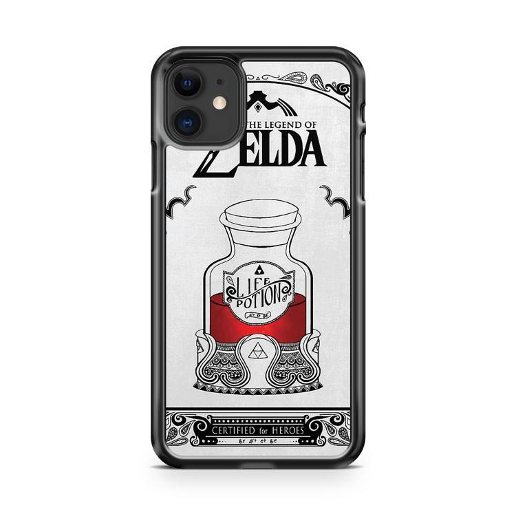 Zelda legend Red potion iphone 5/6/7/8/X/XS/XR/11 pro case cover