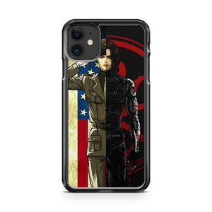 Bucky Barnes Winter Soldier iphone 5/6/7/8/X/XS/XR/11 pro case cover - Goldufo Case