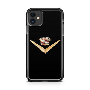 Cadillac King Crown Emblem Logo Auto Moto Racing Car iphone 5/6/7/8/X/XS/XR/11 pro case cover