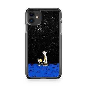 Calvin And Hobbes Looking The Stars iphone 5/6/7/8/X/XS/XR/11 pro case cover
