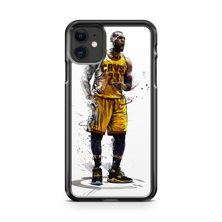 CLEVELAND CAVS LEBRON JAMES NBA 2 iphone 5/6/7/8/X/XS/XR/11 pro case cover