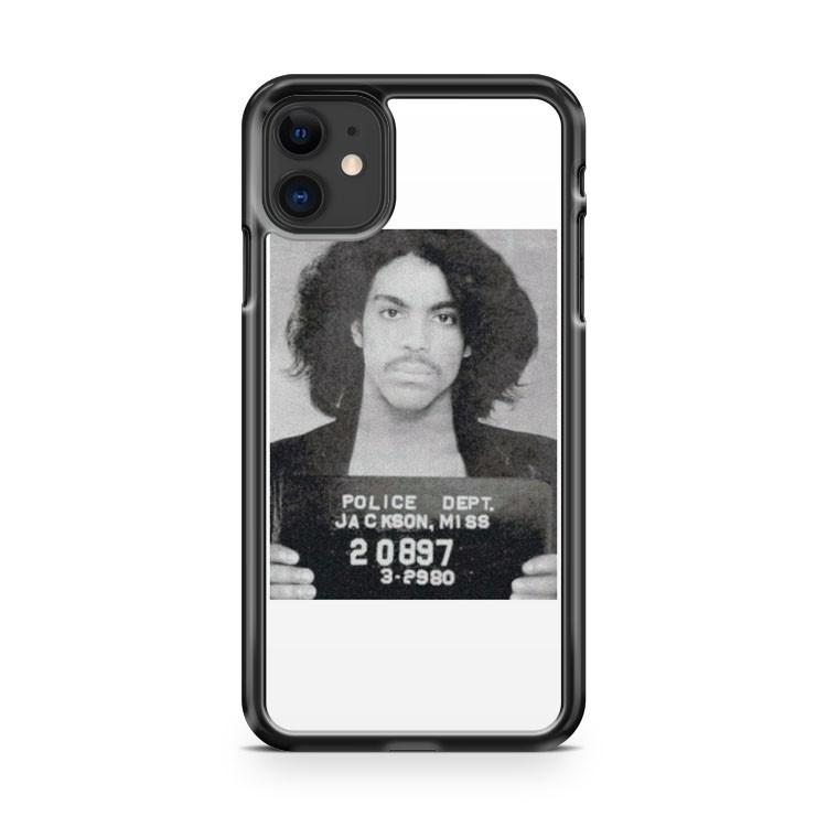 Prince Police 1999 I wanna be your lover little red corvette mugshot iphone 5/6/7/8/X/XS/XR/11 pro case cover