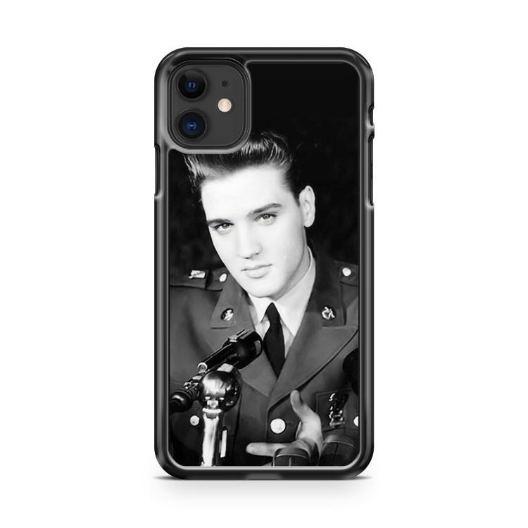 YOUNG ELVIS BLACK AND WHITE iphone 5/6/7/8/X/XS/XR/11 pro case cover