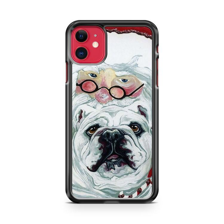 Christmas Bulldogs iphone 5/6/7/8/X/XS/XR/11 pro case cover