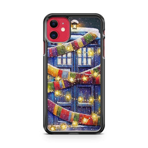Christmas Tardis iphone 5/6/7/8/X/XS/XR/11 pro case cover