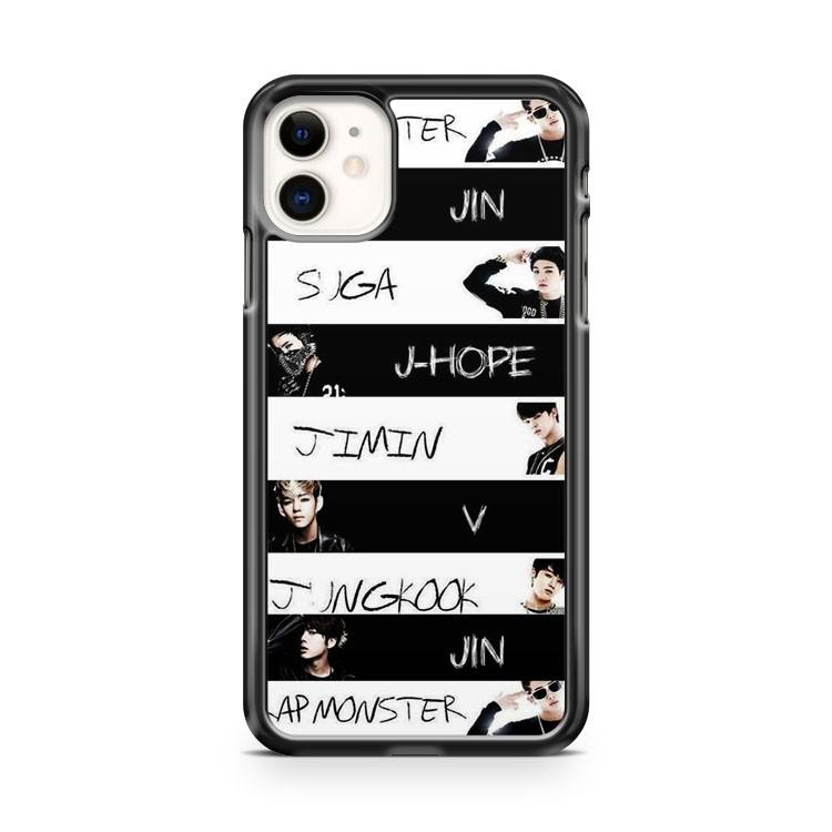 BTS Bangtan Boys Jeon iphone 5/6/7/8/X/XS/XR/11 pro case cover - Goldufo Case