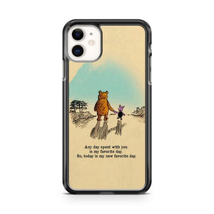 Disney Winnie the Pooh iphone 5/6/7/8/X/XS/XR/11 pro case cover