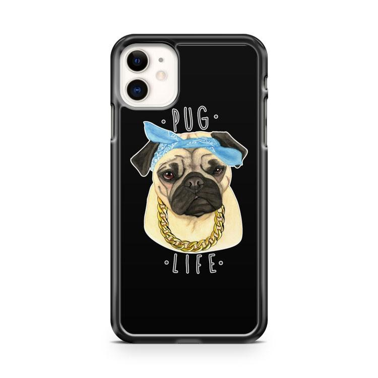 Pug Life Cute Thug Life Gangster Chain iphone 5/6/7/8/X/XS/XR/11 pro case cover