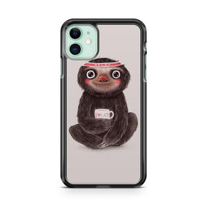 SLOTH and SOFT DRINK iphone 5/6/7/8/X/XS/XR/11 pro case cover