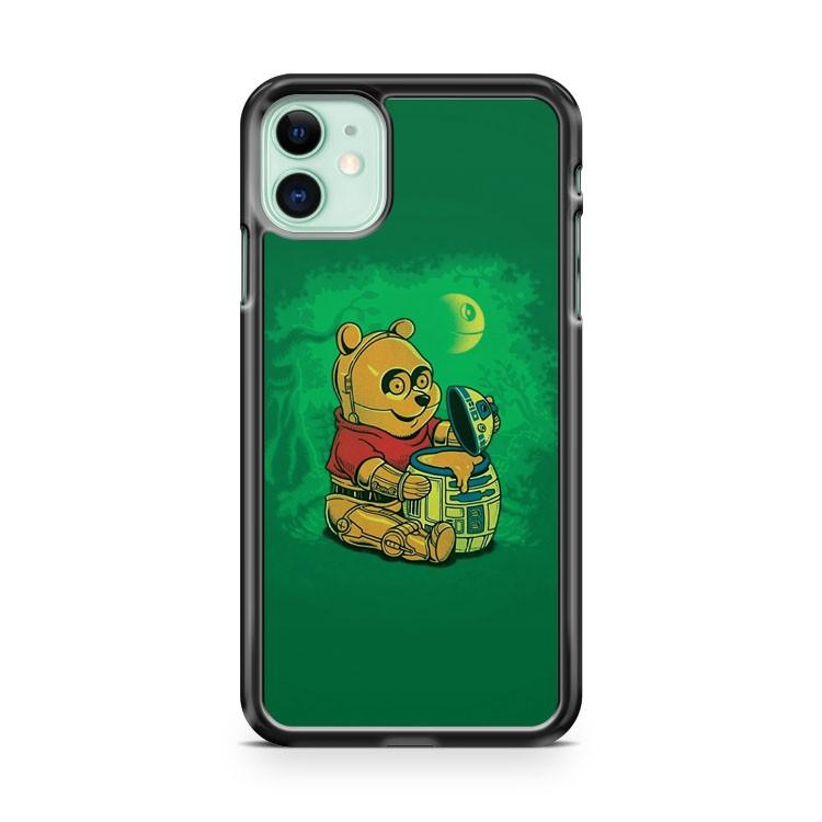 Winnie The Pooh Star Wars 2 iphone 5/6/7/8/X/XS/XR/11 pro case cover