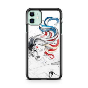 Wonder Woman Art 2 iphone 5/6/7/8/X/XS/XR/11 pro case cover